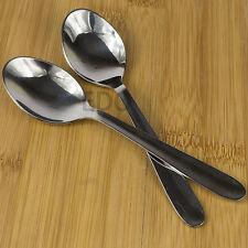 Conjunto de 6 cucharaditas de acero inoxidable 13cm de plata de Té Café Bebidas sólido cutlery