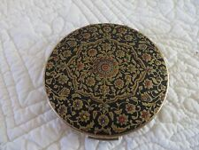 STRATTON COMPACT MADE IN ENGLAND GOLD FLORAL DESIGN STRATTON COMPACT