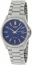 Casio MTP1183A-2A Mens Stainless Steel Analog Dress Watch Blue Dial NEW