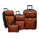 NEW Travel Select by Traveler's Choice Amsterdam 4-piece Luggage Set ORANGE