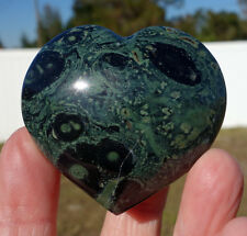 Sweet Kambaba Jasper Algae Fossil Heart Point Crystal Orbs Kambaby Madagascar