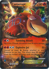 Pokemon Primal Clash Camerupt-EX - 29/160 - Holo Rare EX Card