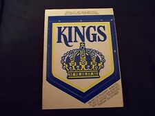 1973-74 OPC O-Pee-Chee Logos Los Angeles Kings Logo UNPUNCHED UNUSED - ex