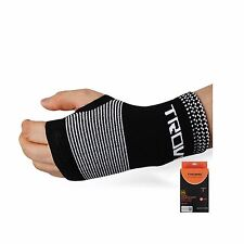 New Comfort Wrist Protector Flexible Wrist Support Bands Gloves Black Free Size