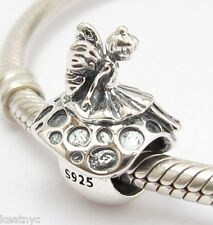 WOODLAND FAIRY CHARM Bead Sterling Silver .925 For European Bracelets 818