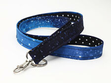 Sky Key Chain Lanyard, Cute Fabric ID Holder, Galaxy ID Lanyard - stars at night