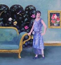 The Chinese Screen  :  Nostalgic  Original Oil Painting by  Wendy Warwick