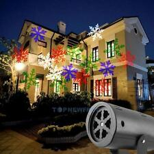 NEW Snowflake Outdoor Landscape Garden Projector Moving Laser Xmas Stage Light