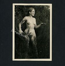 #273 Rössler nudismo/nude Woman Study * vintage 1950s outdoors photo-no PC!