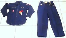 """Boy Scout Cub Pants (27"""" Waist), Belt, Shirt with Badges, Wolf Book, Pre-owned"""