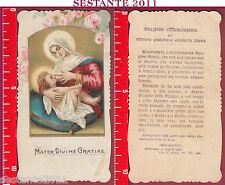 1679 SANTINO HOLY CARD MADONNA MATER DIVINE GRATIAE MEDIOLANI