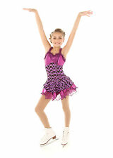 New Competition Skating Dress Elite Expression 1320  Purple Foil Print 6-8 CXS
