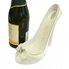 Brides Shoe Wine Bottle Holder with Butterfly Detail - Wedding Table Display