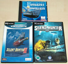 3 pc jeux collection-silent Hunter 1 2 3-u Boot simulation