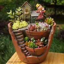 Sky Garden Herb Flower Basket Planter Succulent Pot Trough Box Plant Bed Decor