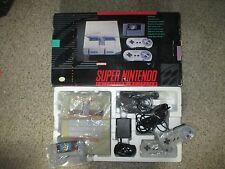 Super Nintendo SNES System Complete in Box w/ Mario World #37 GREAT Shape