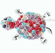 Rhinestone Multi Color Turtle Snap Button Charm Chunk Womens Jewelry 8-5