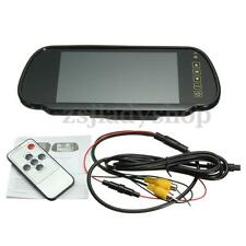 7'' Wireless Car Bus TFT LCD Wide Screen Rearview Reverse Parking Mirror Monitor