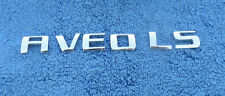 CHEVY AVEO LS TRUNK LETTER EMBLEMS (6 PIECES)