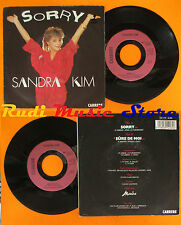 LP 45 7'' SANDRA KIM Sorry Sure de moi 1987 belgique CARRERE cd mc dvd vhs