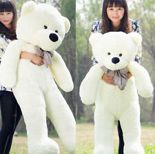 Ultra GIANT 80CM BIG CUTE Beige PLUSH TEDDY BEAR HUGE WHITE SOFT 100% COTTON TOY