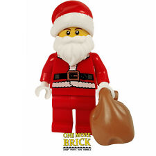 LEGO Santa Claus minifigure - Father Christmas figure & Sack - New - REAL LEGO