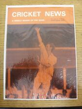 23/07/1977 Cricket News: Vol.01 No.12 - A Weekly Review Of The Game. Any faults