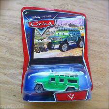 Disney PIXAR Cars T.J. HUMMER green diecast 'Now I got dirt in my rims!' Walmart