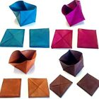 Moroccan Leather Folding Money Pouch Bag Coin Wallets in Assorted Colors