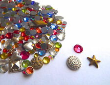 300 mixed bag of Loose Hot Fix Rhinestone Gems