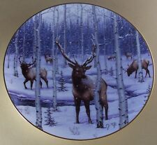 The Call of the North SILENT SNOWFALL Plate Jeff Tift Caribou Winter Herd + COA