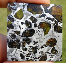 22.4 gram SEYMCHAN METEORITE pallasite - Beautiful GLOWING CRYSTALS TRANSLUCENT!
