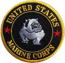 NEW PREMIUM IRON ON PATCH UNITED STATES US MARINE CORPS BULLDOG ARMY SEW ON