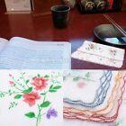 12pcs/Set Lot Ladies Women Vintage Cotton Quadrate Hankies Floral Handkerchief