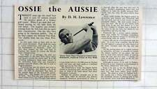 1950 Three Times Open Champion Of Australia, Ossie Pickworth