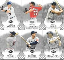 2012 TOPPS TRIPLE THREADS NICE (6) CARD LOT  DIMAGGIO GEHRIG MUSIAL MARIS ++++++