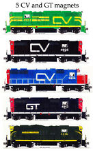 Central Vermont & Grand Trunk Railway set of 5 magnets by Andy Fletcher