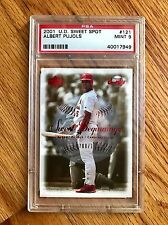 2001 Albert Pujols UD Sweet Spot #121 PSA 9 Mint Official RC SN/1500