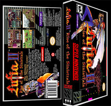 Lufia 2 - SNES Reproduction Art Case/Box No Game.