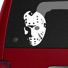 """Friday The 13th Jason Voorhees Mask 3.8""""x6"""" Vinyl Decal Horror Movie Halloween"""