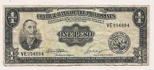 Philippines One  Peso Banknote--No Pinholes nor Tears !!