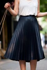 ZARA WOMAN SKIRT PLEATED BLACK/CHARCOAL GREY XS SOLD OUT BNWT £40!