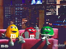 Talk Show M&M's Advertising commercial Red Yellow Green Will Vinton Art NEW