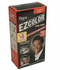 BIGEN EZ COLOR for Men M1 JET BLACK Permanent Haircolor Hair & Beard Dye Barbers