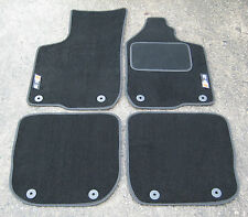 Deluxe Car Mats in Black to fit Audi S3 8L (1999-2003) + S3 Logos + Fixings