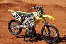 NEW JGR SUZUKI BARCIA FACTORY GRAPHICS DECAL KIT RM125 RM250 2 Stroke All Years