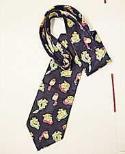 VINTAGE NOVELTY CARTOON TIE MARKS & SPENCER THE FLINT STONES BLUES & MULTI