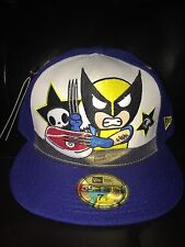 Au Tokidoki Marvel Disney New Era 59FIFTY 7 1/2 Baseball Hat Cap X-Men Wolverine