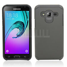 Slim Rubber Protective Hybrid Armor Hard Case Cover For Samsung Galaxy J3 2016