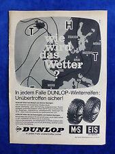 Dunlop M+S Eis Spikes Reifen - Werbeanzeige Reklame Advertisement 1965 __ (171